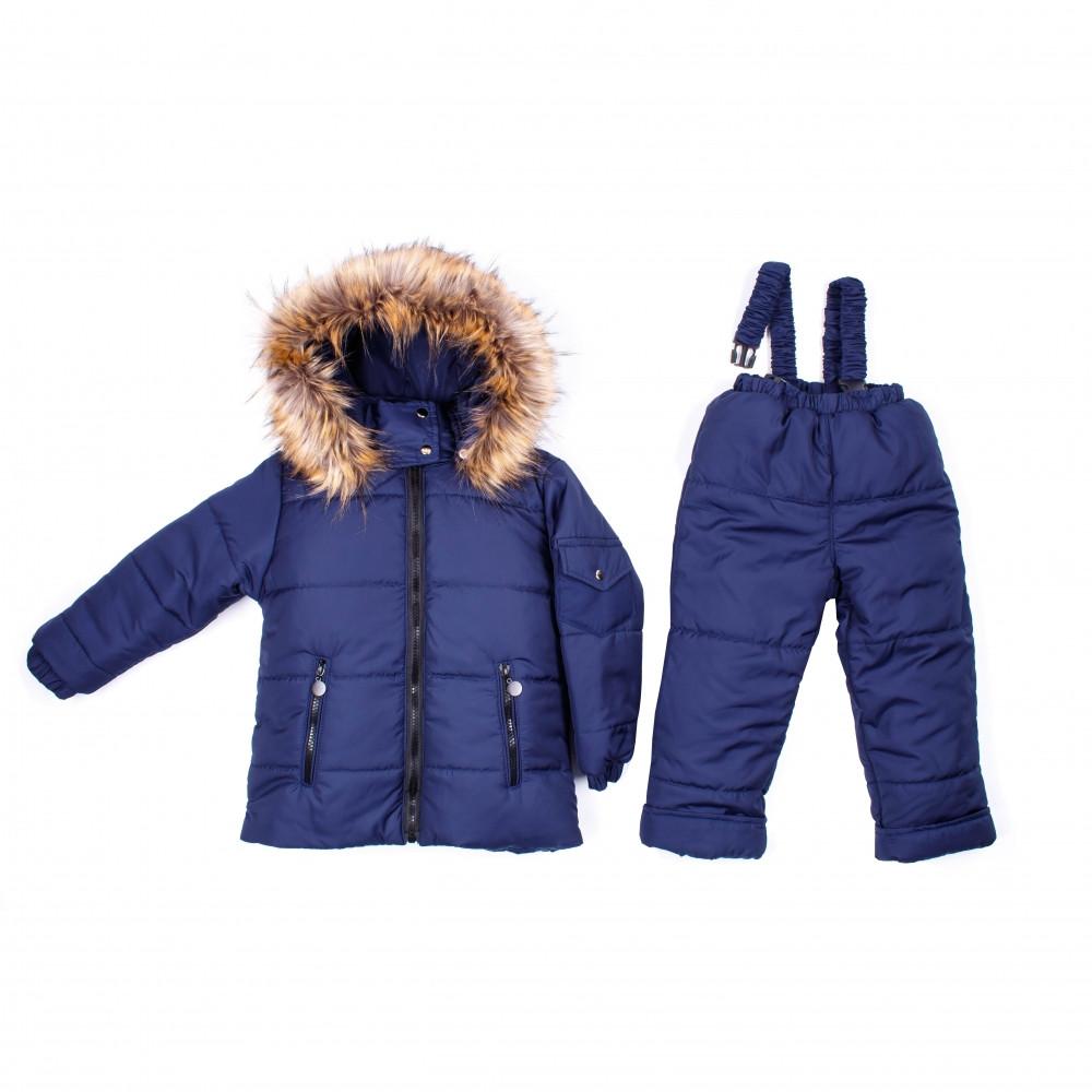 Детский зимний комбинезон Пусик Пушок 104 см (3-4 года) (Синий)
