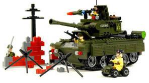 """Конструктор """"Військовий танк"""" 466 деталей Brick-823, фото 2"""