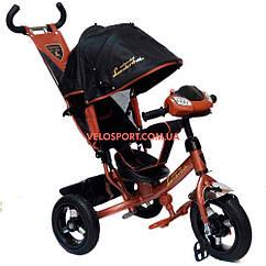 Детский трехколесный велосипед Azimut Lambortrike Light AIR коричневый