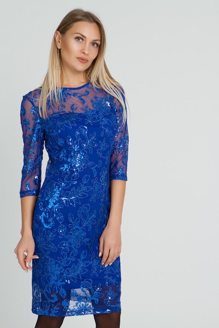 Платье LiLove 510 56-58 электрик
