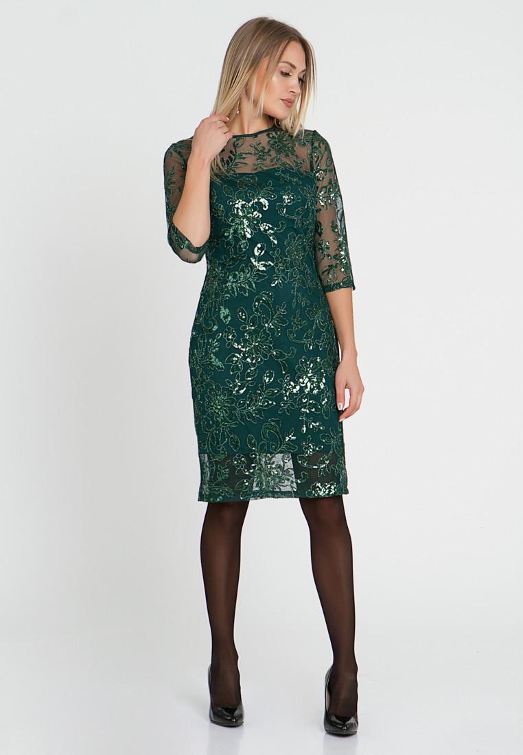 Платье LiLove 510-1 48-50 зеленый