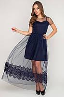 Шикарное платье 17-94 фатин с ресницей - цвета