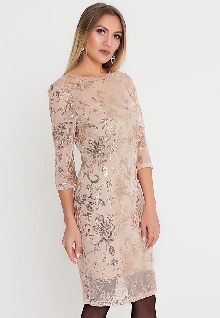 Платье LiLove 510-3 48-50 бежевый