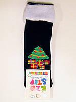 Махровые хлопковые новогодние носки детские с ёлкой