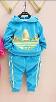 Спортивный костюм Adidas, бирюзовый