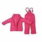 Детский зимний комбинезон Пусик Гномик с пайетками 92-104 см (1-2, 2-3, 3-4 года) (Малиновый), фото 3