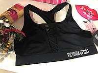 Бюстгальтер спортивный Victoria Secret чёрный The Player Victoria Sport, фото 1