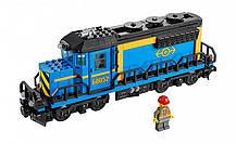 Конструктор Lepin 02008 Грузовой поезд. С мотором. На радиоуправлении (аналог Lego City 60052), фото 3
