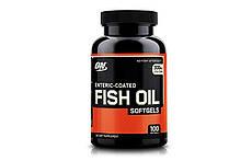 Рыбий жир Optimum Nutrition Enteric Coated Fish Oil, 100 Caps.