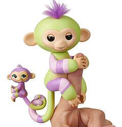 Оригинал интерактивная обезьянка маленькая Джес и Эден WowWee Fingerlings Monkey Jess & Eden