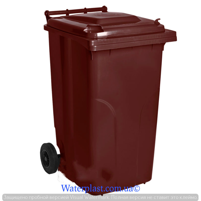 Бак для мусора 240 литров коричневый (алеана)