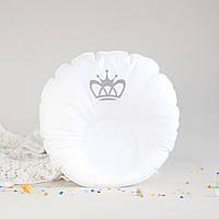 """Ортопедическая подушка для новорожденных """"Вышитая корона"""""""