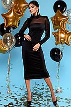 Женское черное платье-миди по фигуре (Victoryjd), фото 3