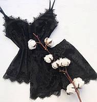 Піжама шорти і майка чорний розмір XXXL