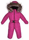 Детский зимний комбинезон Пусик Малыш с пушком 86 см (12-18 месяцев) (Малиновый), фото 2