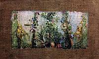 Основа для вышивки и декора Декупаж по текстилю Сад 002, 44*28см