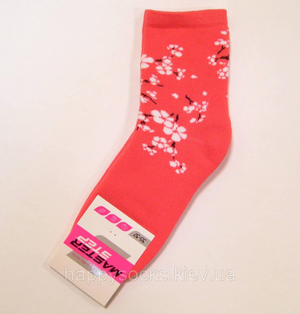 Хлопковые махровые носки с цветочным узором