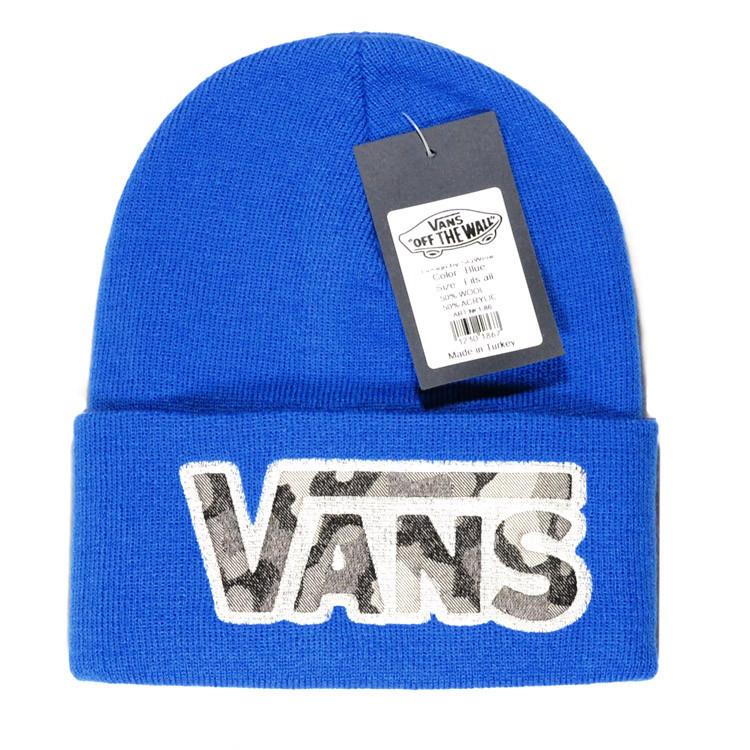 587f86a75b8e Брендовая женская вязаная шапка Vans ярко-синяя синяя шапочка шерстяная  зимняя ...