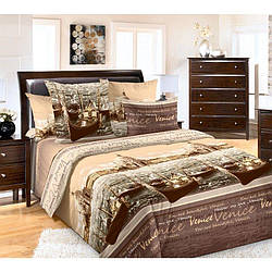 Комплект постельного белья Царский Дом ВЕНЕЦИЯ бежевая (Перкаль) Полуторный