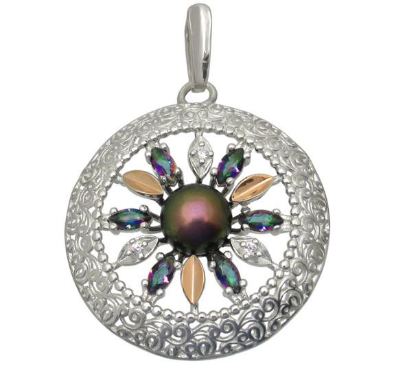 кулон серебряный женский