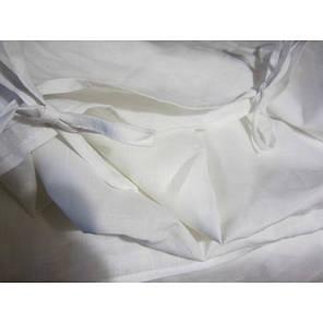 Постельное белье Постельное белье лен Белый умягченный с хлопком ТМ Царский дом  (Двуспальный), фото 2