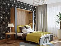 Шкаф-кровать двухспальная с пеналами сп. место 1600х2000