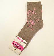 Теплые махровые носки с цветочным узором