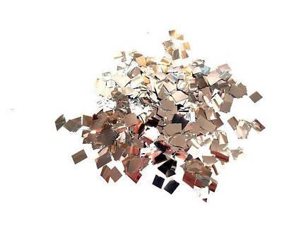 Конфетти квадрат серебро вес 25 гр.