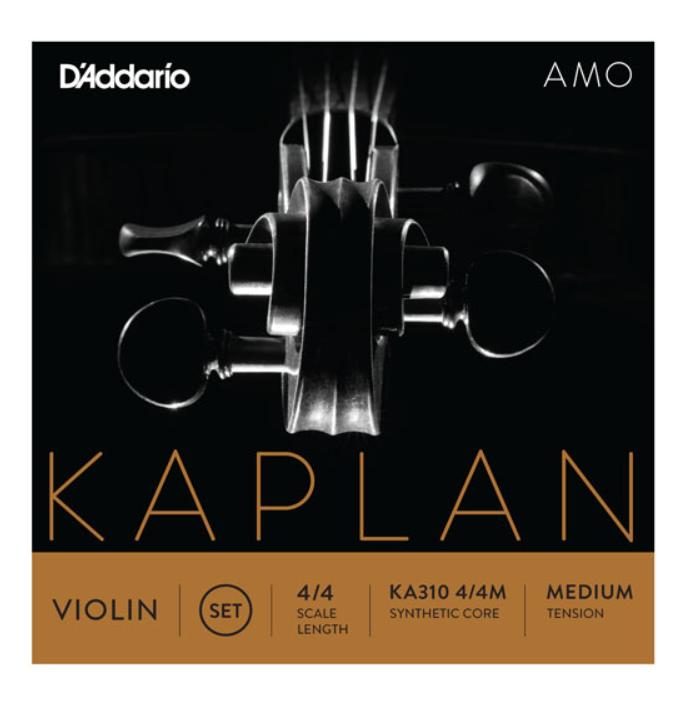 Струны среднего натяжения для 4/4 скрипки D`ADDARIO KA310 4/4M KAPLAN AMO VIOLIN STRINGS 4/4 MEDIUM