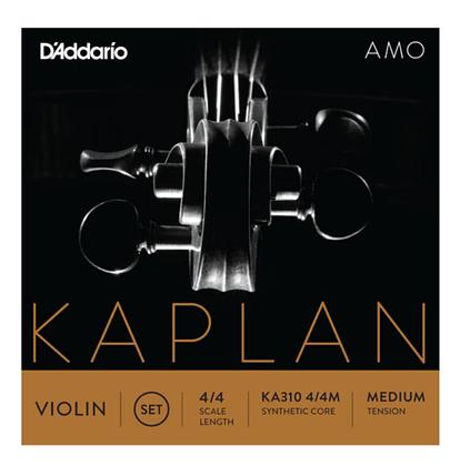 Струны среднего натяжения для 4/4 скрипки D`ADDARIO KA310 4/4M KAPLAN AMO VIOLIN STRINGS 4/4 MEDIUM, фото 2