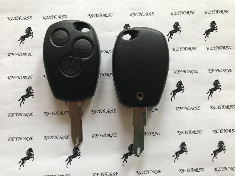 Автоключ для RENAULT (Рено) 3 кнопки, лезвие NE 73, с чипом ID 46 (PCF 7946), 433MHZ
