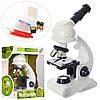Микроскоп C2129  26,5см, свет, инструменты, на бат-ке, в кор-ке, 27-20-13см
