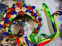 """Кокошник на голову """"Украинский шикарный: Полевые Цветы"""", высота 15 см, фото 1"""