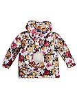Детская куртка с помпоном Пусик Гномик весна-осень 90-122 см (1-2, 2-3, 4-5 лет) (Цветы), фото 3