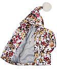 Детская куртка с помпоном Пусик Гномик весна-осень 90-122 см (1-2, 2-3, 4-5 лет) (Цветы), фото 2