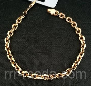 123. Якорные женские браслеты оптом. Браслеты цепочки - позолоченная бижутерия оптом.
