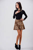 Стильная леопардовая юбка