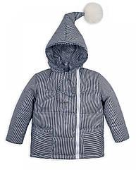Детская куртка с помпоном Пусик Гномик весна-осень 100-122 см (2-3, 3-4, 4-5 лет) (Полоска)