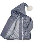Детская куртка с помпоном Пусик Гномик весна-осень 100-122 см (2-3, 3-4, 4-5 лет) (Полоска), фото 3