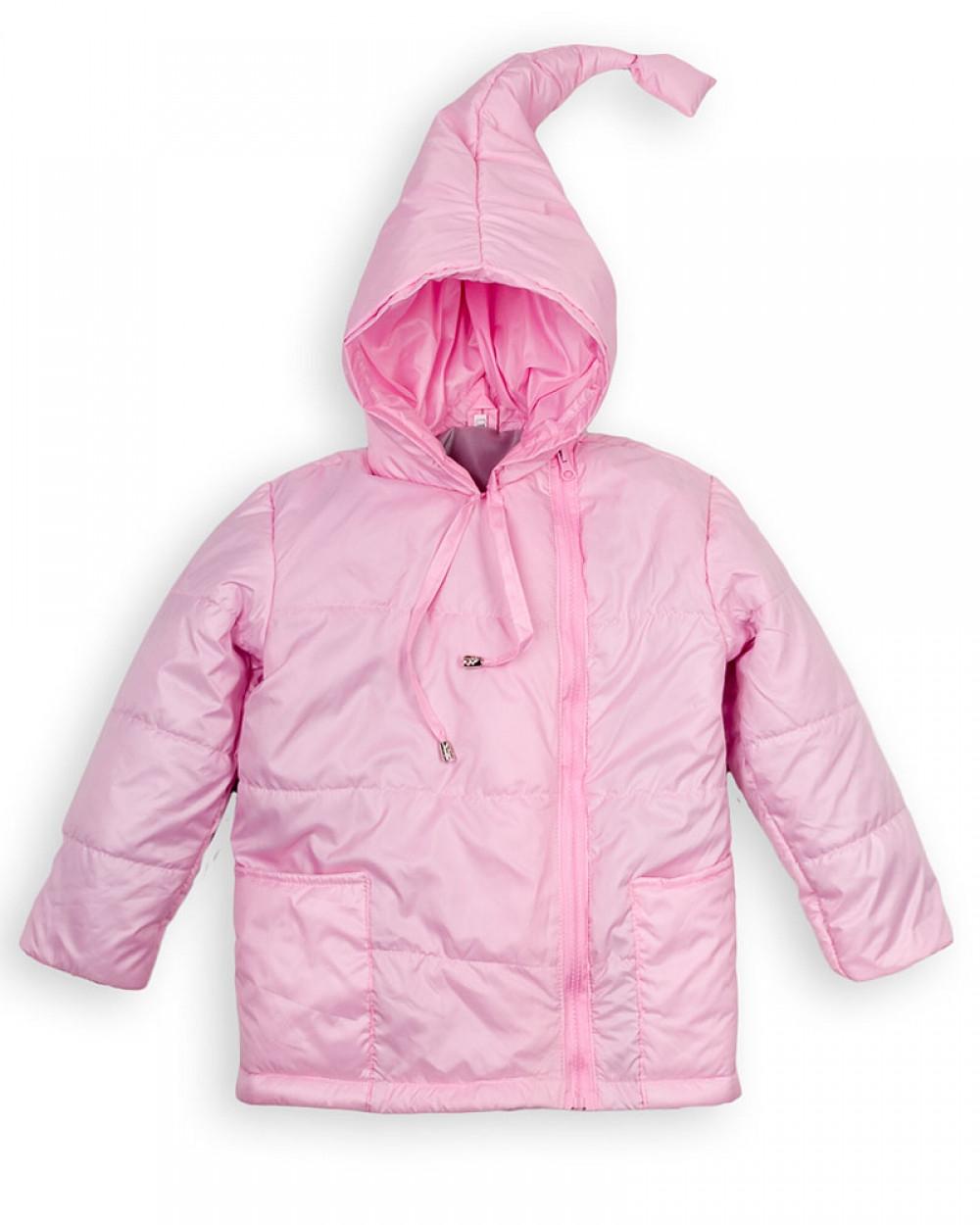 Детская куртка Пусик Гномик весна-осень 90-122 см (1-2, 3-4, 4-5 лет) (Розовая)