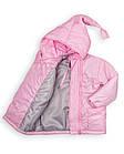 Детская куртка Пусик Гномик весна-осень 90-122 см (1-2, 3-4, 4-5 лет) (Розовая), фото 4