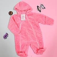 Комбинезон детский ясельный на молнии: Вельсофт  розовый размер 36