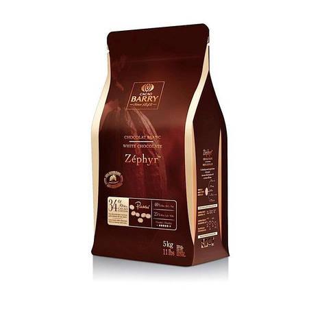 """Белый шоколад  """"ZEPHYR"""" 34 % какао 100 г ТМ """"Cacao Barry"""""""