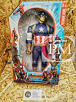 Фигурки Супер-героев (Бетмен, Танос, Капитан Америка, Тор, Флеш, Черная Пантера) Капитан Америка