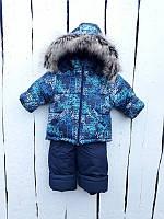 Зимний полукомбинезон и куртка для мальчика 80-100 р, фото 1
