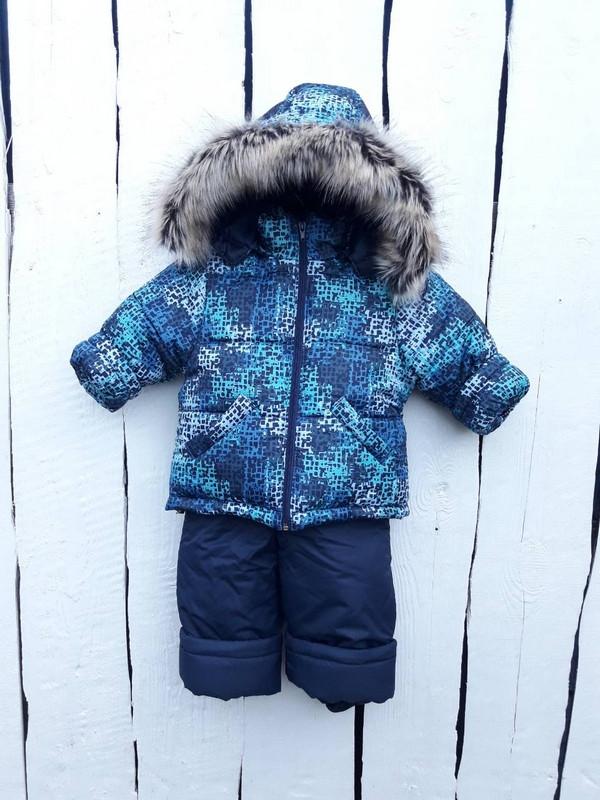 Зимний полукомбинезон и куртка для мальчика 80-100 р