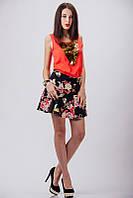 Стильная юбка с цветочным принтом, фото 1
