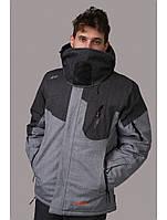 Мужская горнолыжная куртка Avecs, серый P. 3XL