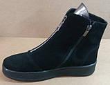Ботинки женские зима на толстой подошве из натуральной замши от производителя модель РБ053, фото 2