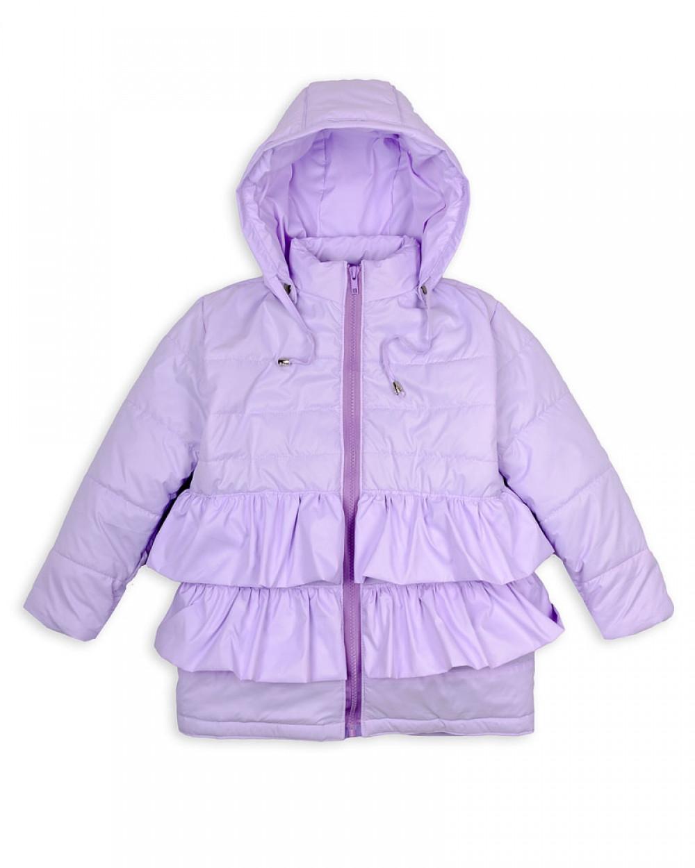 Детская куртка Пусик Рюша 90-122 см (1-2, 2-3, 3-4, 4-5 лет) весна-осень (Лиловая)